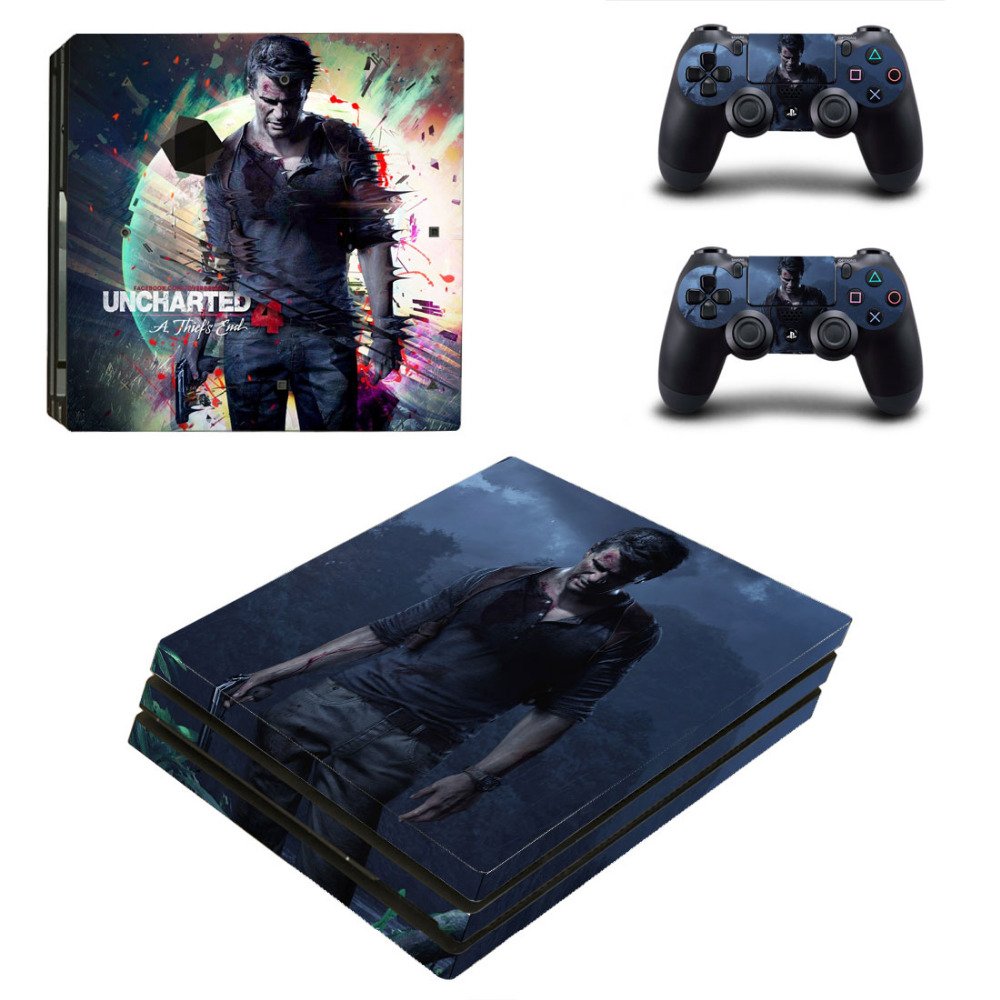 Uncharted 4 A Thiefs End PS4 Pro Skin Sticker For Sony PlayStation 4 Console and Controllers PS4 Pro Skin Stickers Decal Vinyl