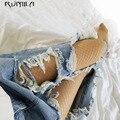 Мода кожи средней сетки для женщин с высокой талией чулки в сетку клуб колготки, Трусы трикотажные колготки из сетки брюки сетки нижнее бель...