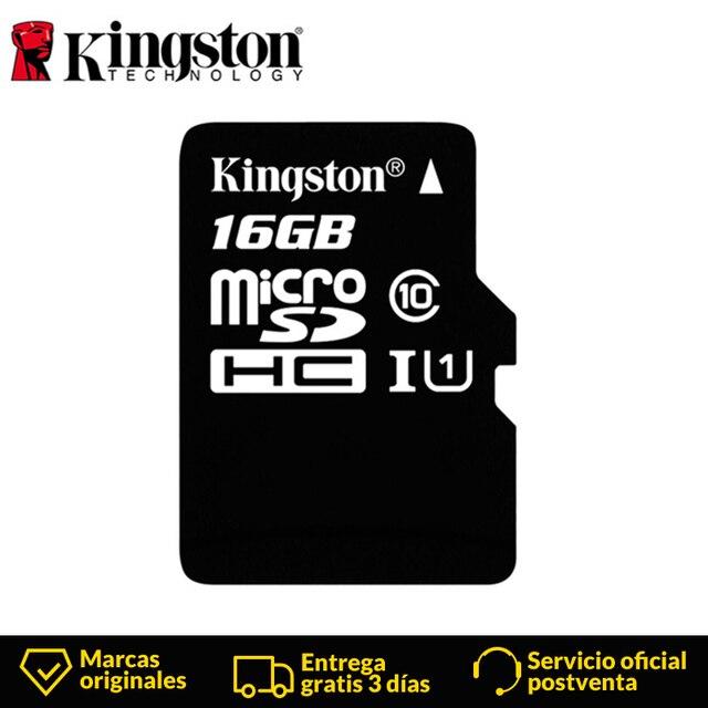 KingstonTechnology Micro SD карта класса 10 16 Гб MicroSDHC карта TF/Micro SD черная карта памяти скорость чтения данных до 80 МБ/с.