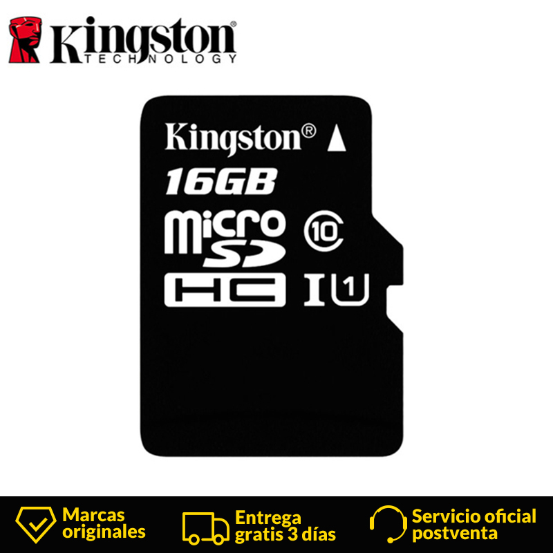 KingstonTechnology Micro SD Card Class 10 16GB MicroSDHC TF / Micro SD Card Black Memory Card Data read speeds up to 80MB/s-in Micro SD Cards from Computer & Office