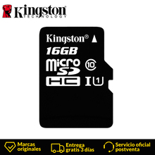 KingstonTechnology Micro SD Card Class 10 16GB MicroSDHC TF / Micro SD Card Black Memory Card Data read speeds up to 80MB/s