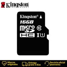 KingstonTechnology مايكرو SD بطاقة الدرجة 10 16 GB ميكروسدهك TF/مايكرو SD بطاقة الذاكرة السوداء بطاقة البيانات قراءة سرعات يصل إلى 80 برميل/الثانية
