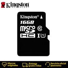 Tarjeta Micro SD KingstonTechnology Clase 10 16 GB, tarjeta MicroSDHC TF/Micro SD, tarjeta de memoria negra, velocidad de lectura de datos de hasta 80 MB/S