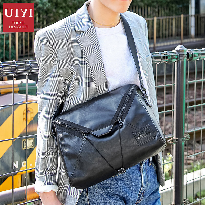 UIYI Brand Men Fahion Business Tote Bag New Style Everyday Carry Unique Pattern Black Leather Messenger Bag For Ipad Pocket открытые системы директор информационной службы 06 2013