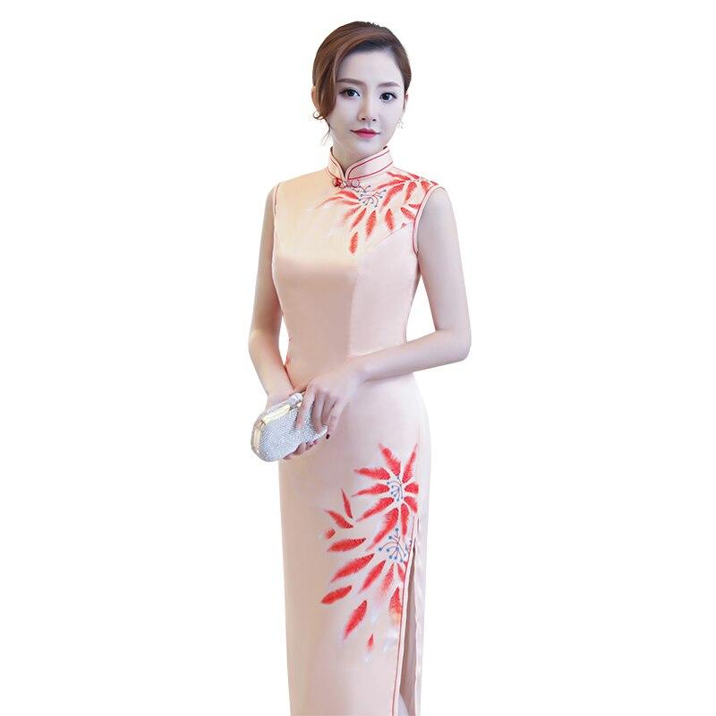 Qipao Tamaño Sexy Vestido Moda Xxxl Chino Elegante S L Long Novedad Mujer Cheongsam Delgado Xl Xxl M 8346 Rayón Vestidos 12934 w7xYnq04