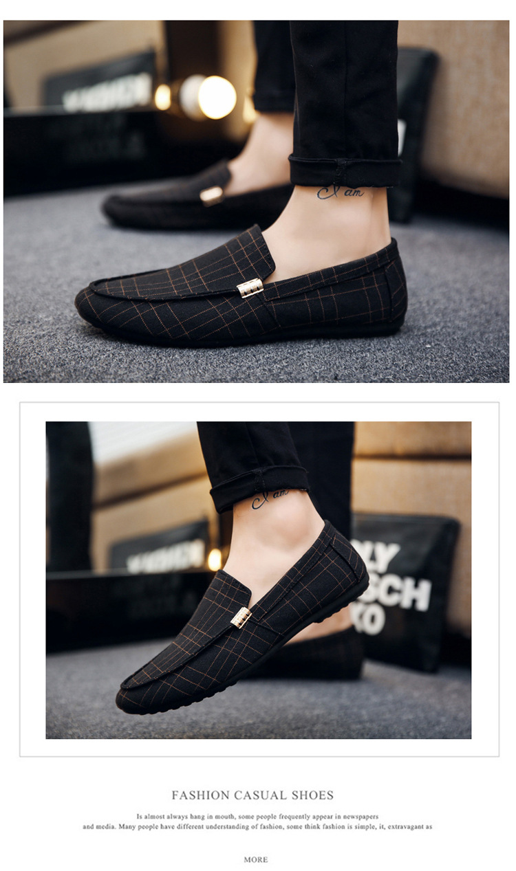 HTB1WivbX4 rK1RkHFqDq6yJAFXaW Men Casual Shoes Spring Summer Men Loafers New Slip On Light Canvas Youth Men Shoes Breathable Fashion Flat Footwear
