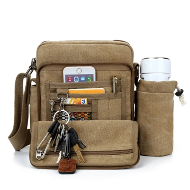 Canvas Russian Style Gym Bags Desigher Outdoor Shoulder Bag Multi Function Collapse IPAD Duffle Packet Messenger