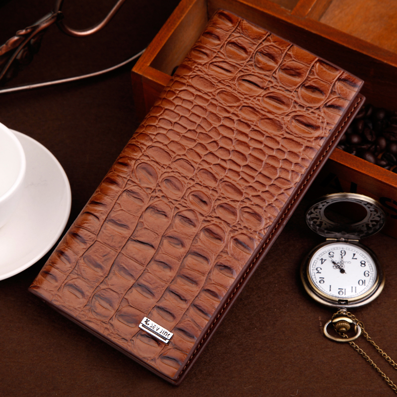 2016 fashion men clutch wallets high quality PU leather alligator texture wallet male credit cards holder men coin pocket purses legend pu leather bifold clutch men s short wallets purses 2016 male id credit cards holder carteira masculina feb15