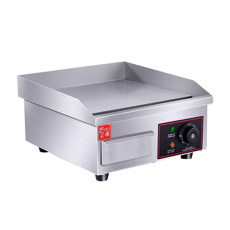 Nouvelle Machine à griller commerciale Barbecue plat poêle en acier inoxydable électrique plaque de cuisson électrique plaque de cuisson EG-818B