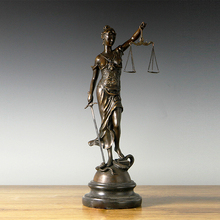 18 Bronzes Sculpture Lady Scales of Justice Themis Justitia Lawyer Gifts Large Bronze Statue Estatua justica  office Decor