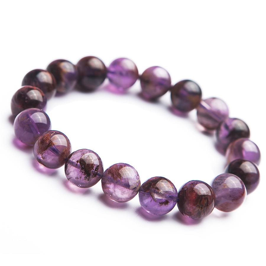 Fashion 12mm 100% Natural Purple Phantom Quartz Crystal Gemstone Round Bead Stretch For Woman Bracelets AAAAA Drop ShippingFashion 12mm 100% Natural Purple Phantom Quartz Crystal Gemstone Round Bead Stretch For Woman Bracelets AAAAA Drop Shipping