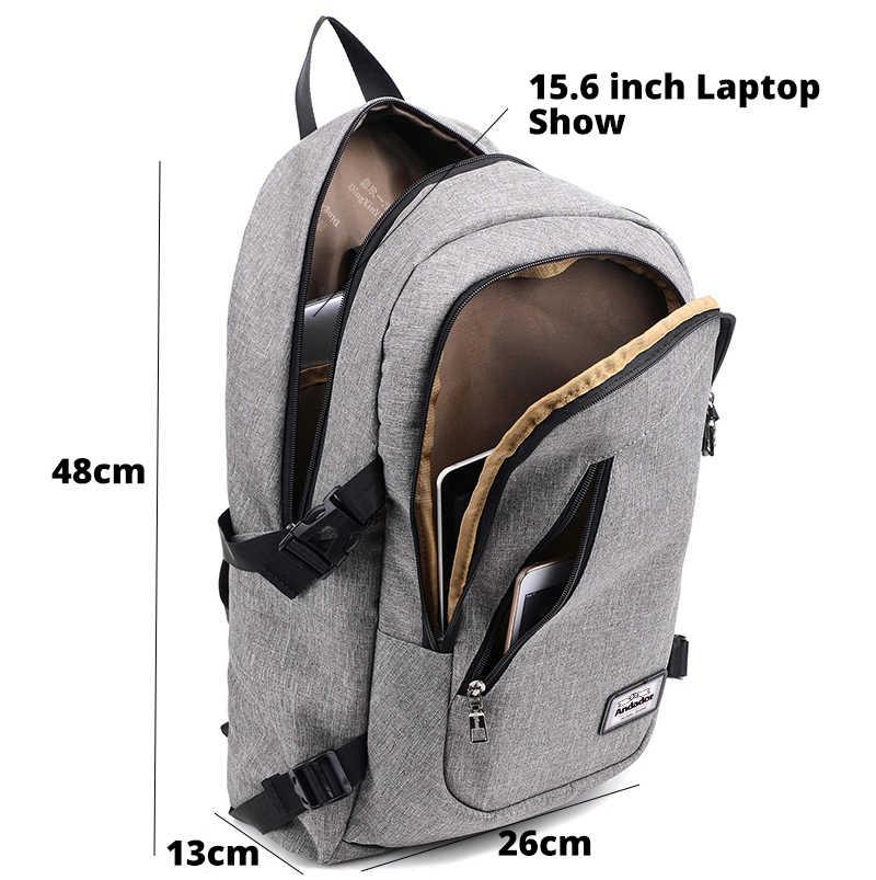 802cc1bd6263 ... Модные мужские ноутбук рюкзак зарядка через usb компьютер рюкзаки  повседневное стиль сумки большой мужской бизнес рюкзак ...