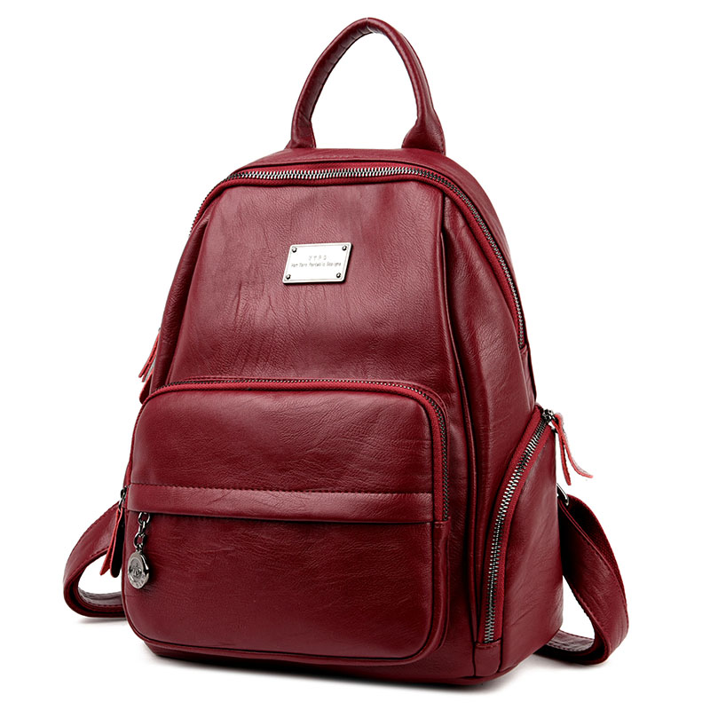 2017 Women Leather Backpack Designer Preppy Style School Bags For Teenagers Girl's Travel Bag Vintage Backpacks Mochilas Escolar twenty four women backpacks genuine leather ladies travel backpack for teenagers girls bucket bag vintage real leather mochilas