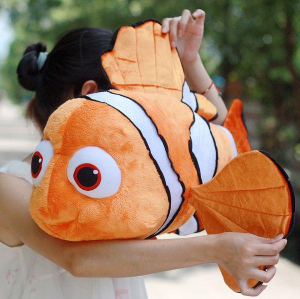 Joli poisson dessin animé petit poisson clown mignon poisson nemo cadeau d'anniversaire environ 65 cm