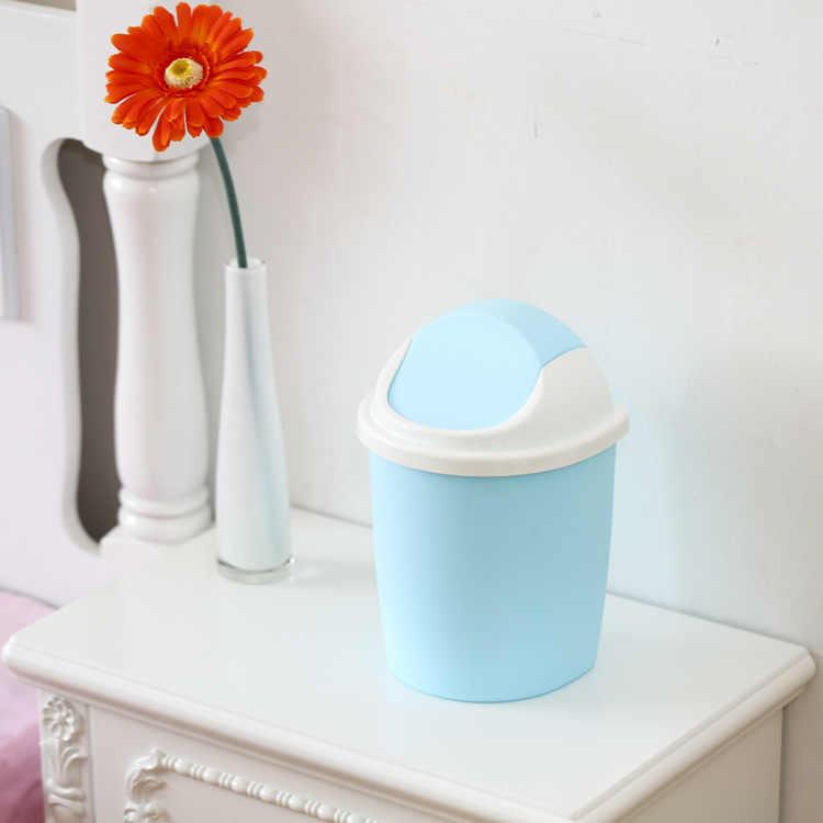 1 шт., 4 вида цветов, пластиковая настольная Чистка мусора, баррель, креативный, свежий, конфетный цвет, маленькая мусорная корзина, органайзер, мусорные ведра J0731