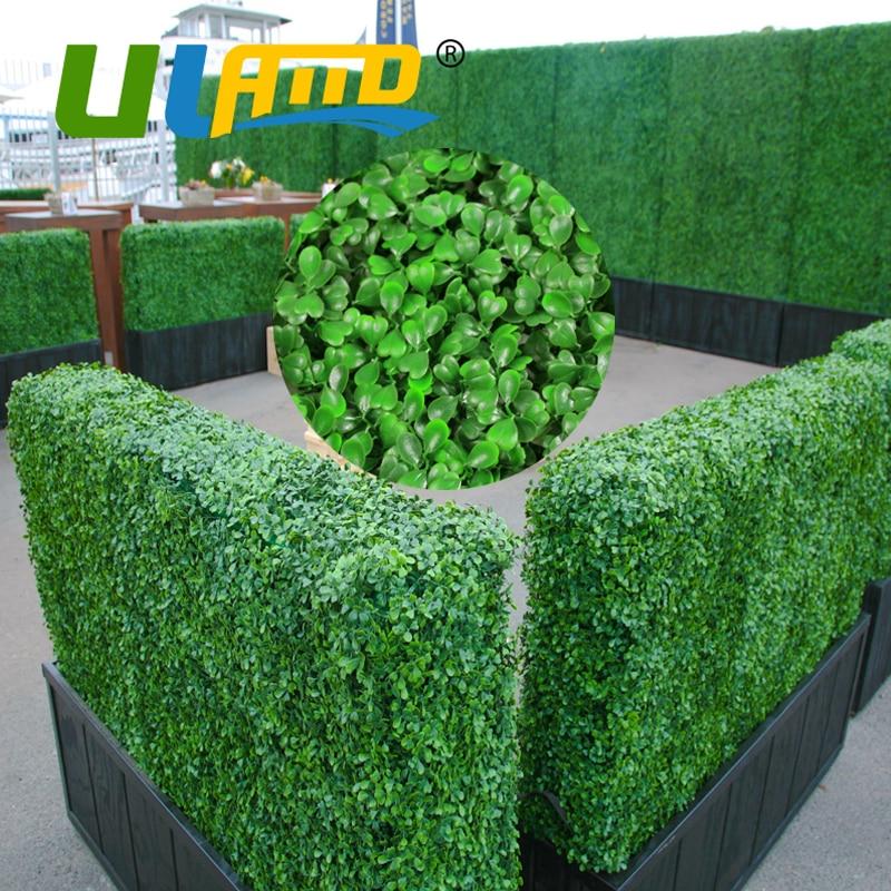 Haie de buis artificielle Plantes Vie Privée Clôture pour le Jardin ...