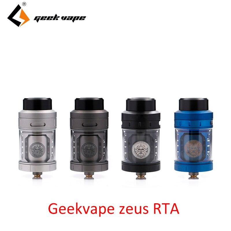 Original Geekvape Zeus RTA mejor sabor zeus atomizador 4 ml 3D flujo de aire E cigarrillo Zeus vape por Geekvape Aegis de la Caja MOD