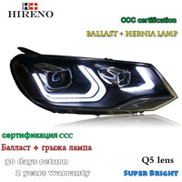 Hireno Headlamp For 2011 2013 Volkswagen Touareg Headlight Assembly LED DRL Angel Lens Double Beam HID