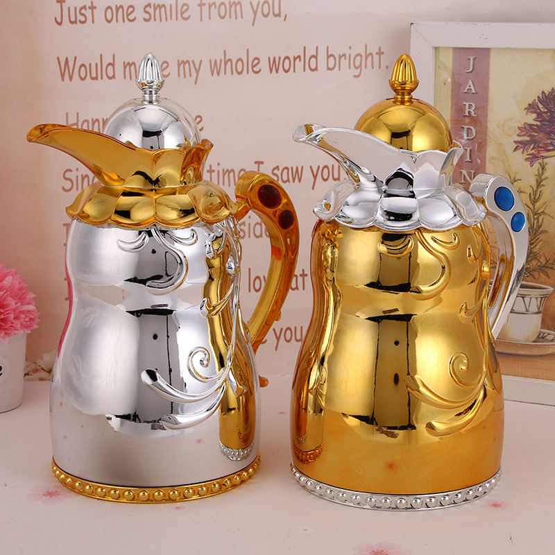 1000ml Aurification Golden Silver Deluxe Coffee Stainless Steel Coffee Pot Moka Coffee Maker Teapot Mocha Stovetop Tool