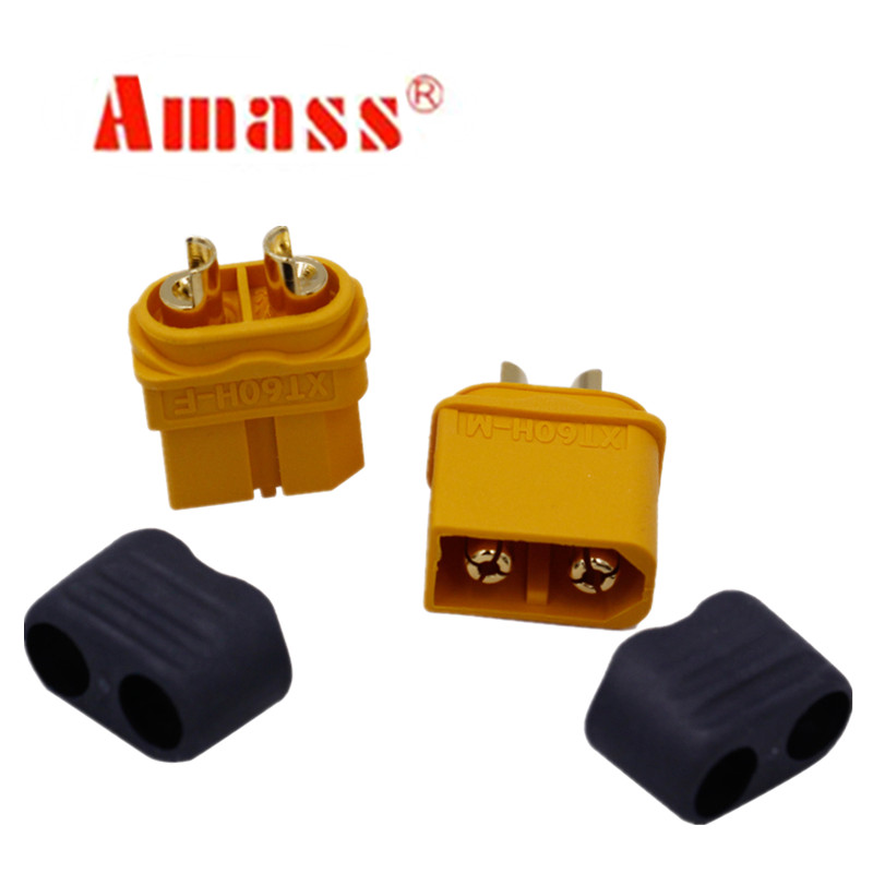2pcs/lot Original Amass Male Female XT60 XT60H Bullet Connector Plugs For RC Connectors Lipo Battery 20%off original high speed connector for samtec 8 20 160pin female asp 66065 02
