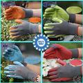 NMSafety Fashion 4 pairs work latex glove,foam latex coated work garden gloves