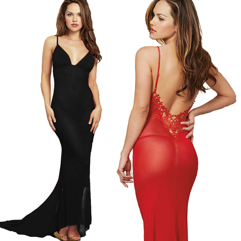 women sexy lingerie hot long dress party sexy perspective erotic costumes underwear transparent erotic lingerie sexy nightgown