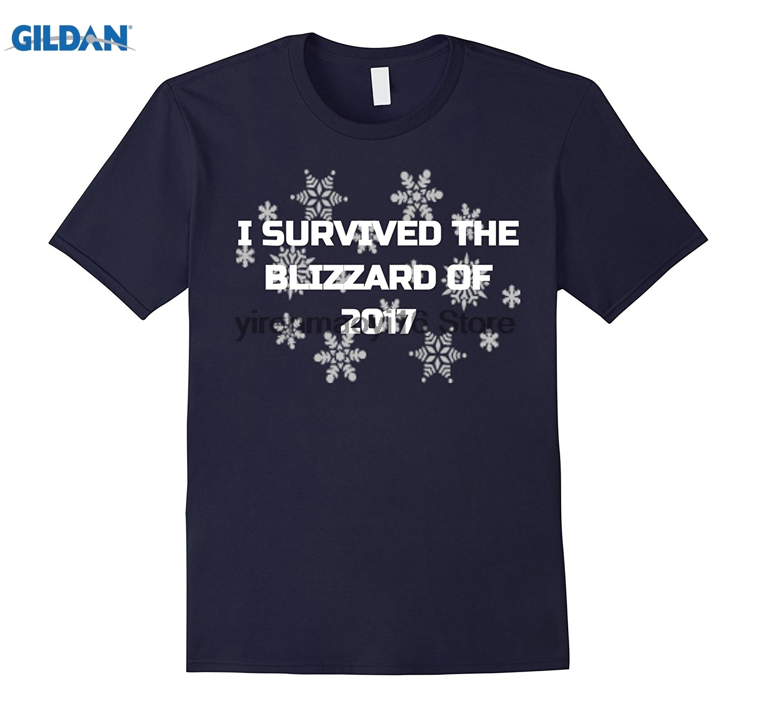GILDAN 2018 I Survived The Blizzard of 2018 Funny Noreaster Shirt