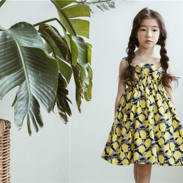 Big Girls Dress New Summer Beach Style Cotton Floral Print Party Dresses for Girls Vintage Teenage Girl Clothing 4-14Yrs CC853