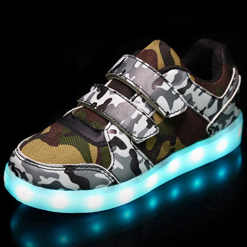 Led luminous Shoes For Boys girls Fashion Light Up Casual kids USB charge new simulation sole Glowing children sneakers wholesale cheap lights up led luminous casual shoes high glowing with charge simulation sole for women