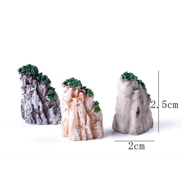 5/10PCS/Set Mini Mountain Miniature Toys Bonsai Ornaments Plant Gardening Garden Accessories Natural Resin Home Decorative 6