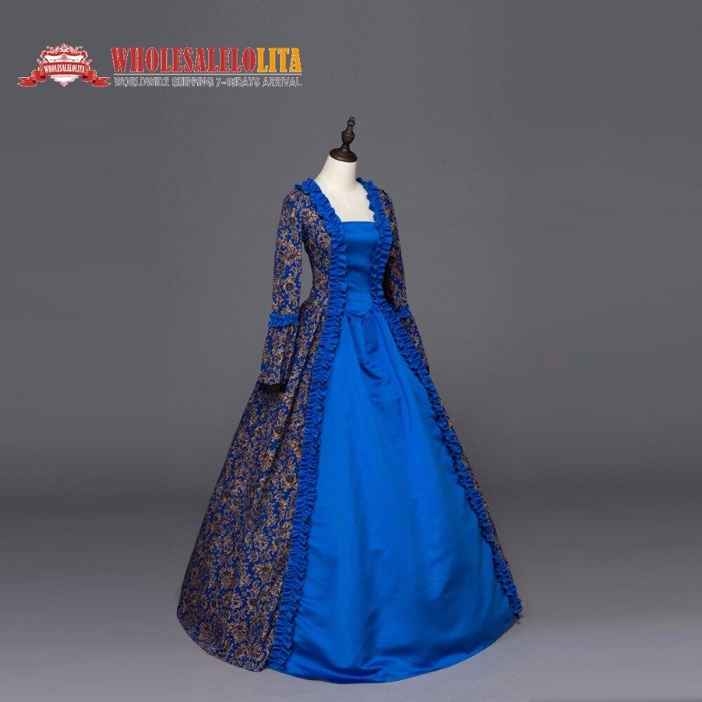 Robe gothique géorgienne imprimée Renaissance robe Steampunk reconstitution Costume théâtral