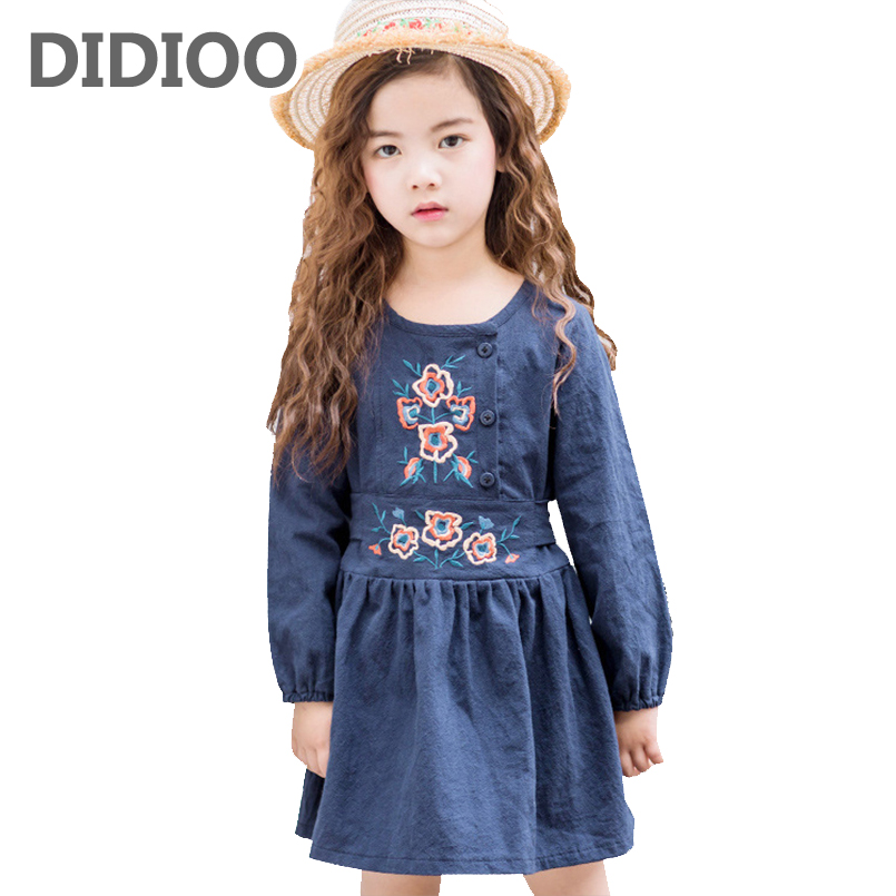 Baby Dresses For Girls Children Clothing Long Sleeve Floral Dress Girls Ball Gowns Toddlers Princess Party Dresses 18M 2 4 6 8Y high quality girls baby bright leaf long sleeve lace dress princess bud silk dresses children s clothing wholesale