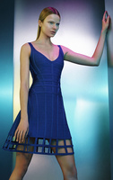 2016 nouvelle piste de Style mode bleu Royal Caged populaire a-ligne Celebrity Style gros HL Bandage robe