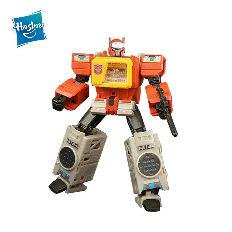 Hasbro Transformers juguetes generaciones retorno de los titanes líder clase Autobot Blaster figura de acción modelo de recogida chico coche muñeca