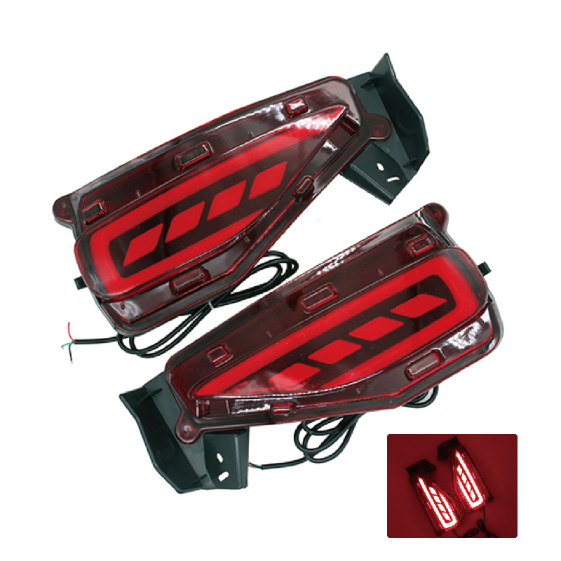 SUNKIA 12V Car Rear Fog Lamp Bumper Light Brake Light Car Styling Specific for Toyota Fortuner 2015 2016 Free Shipping car styling tail lights for toyota highlander 2015 led tail lamp rear trunk lamp cover drl signal brake reverse
