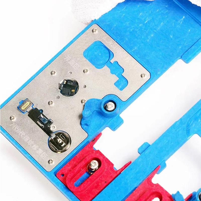 12 in 1 A22+ Logic Board Clamps for iPhone 5C 5S 6G 6S 6P 6SP SE 7G 7P 8G 8P XR Fixture Holder Fix Repair Mold BGA Repair Tool (Blue)
