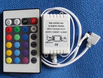 Kontroler RGB DC12V 24 kluczy IR zdalny pilot RGB dla SMD3528 5050 5730 5630 3014 taśmy LED RGB światła Mini kontroler tanie i dobre opinie controller led lighting 2 Years ROHS 12 v Common Anode(+) s-tc583112 50 60Hz