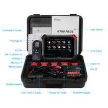 XTOOL X100 PAD2 PRO Auto key programmer odometer adjustment OBD2 car diagnostic tool professional Immobilizer for Audi 4th 5th
