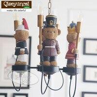 Qiseyuncai Англия медведь Легион детская Люстра для мальчиков и девочек спальня ребенок обустройство дома освещение