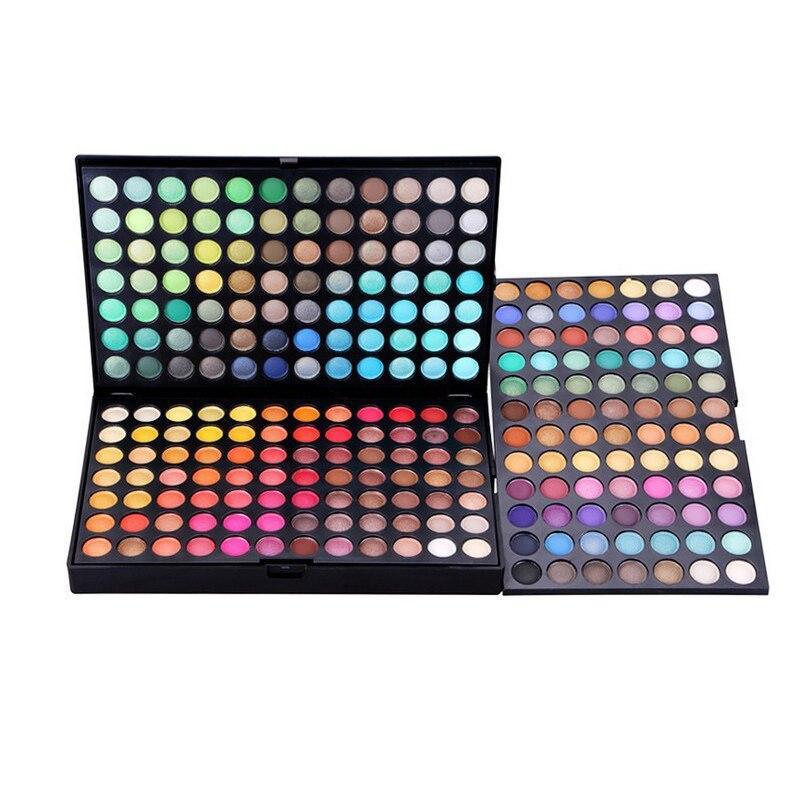 252 Cores Profissional Maquiagem Paleta Shimmer & Glitter Eyeshadow Palette Maquiagem Sombra de Olho Conjunto de Maquiagem Ferramentas de Cosméticos