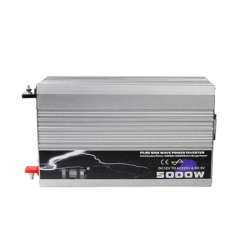 цена на 5000W Pure Sine Wave Inverter DC12V 24V 48V AC 220V 110V Car Solar Power Inverter Peak Power 10000W Car Battery Charger Cable