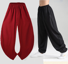 New Elasticity Flax Tai Chi Kung Fu Martial Art Yoga Pants(China)