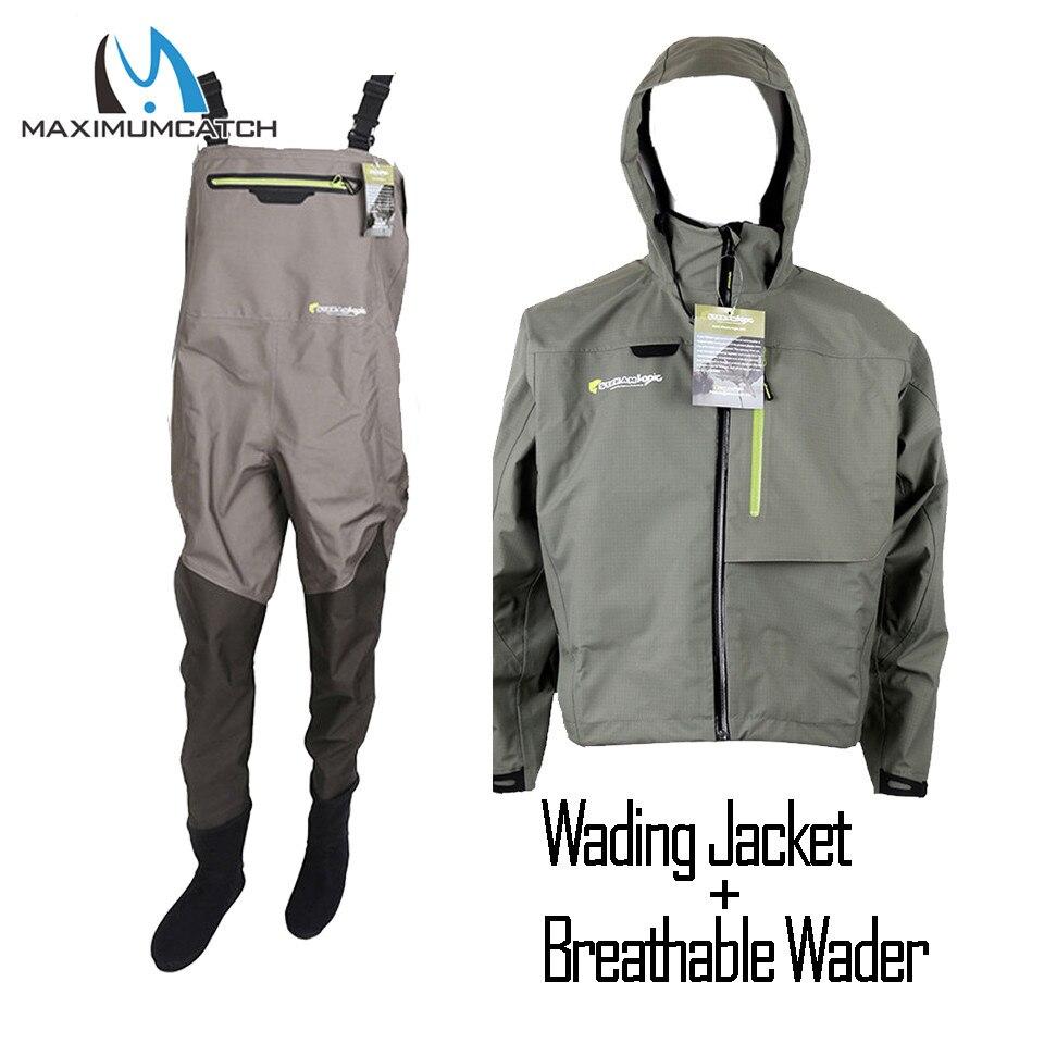 Maximumcatch plein air bas pied léger respirant mouche pêche Wader imperméable Wading pantalon pêche Wader veste