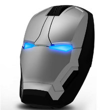 Selling Hot Style War Man Computer Notebook Mouse Infinite Originality Light-Emitting Character Iron Man Wireless Gaming Mouse