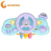 Baby Musical Instruments Simulatio Driving Steering Wheel Equipped with Lights Music Various Driving Sounds Toys For Children