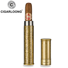 Cigar Tube Portable  Stainless Steel Single Branch Moisturizing CG-3047