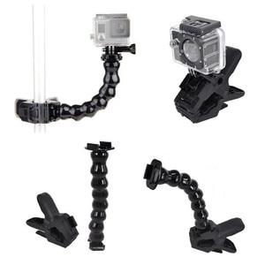 Image 3 - Jaws Flex Clamp Mount + 8 Joint Adjustable Goose Neck for Gopro Hero/7/6/5/4/3/2/1/SJ4000/SJ5000 action camera