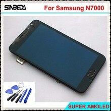 Купить онлайн Sinbeda 5.3 «ЖК-дисплей Экран Дисплей для Samsung Galaxy Note i9220 N7000 Сенсорный экран планшета в сборе с рамкой и кнопка home