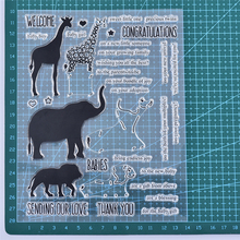 YaMinSanNiO Animal Letter Clear Stamps Set For Scrapbooking DIY Album Embossing Silicone Transparent Stamp Stencils