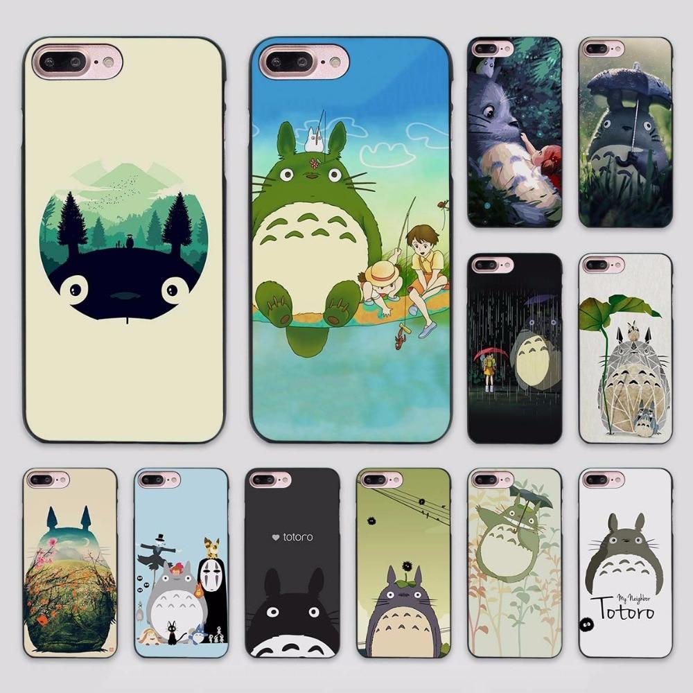 My Neighbor Totoro Studio Ghibli Cut design hard black Case Cover for Apple iPhone 7 6 6s Plus SE 5 5s 5c 4 4s